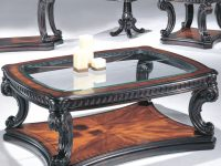 Grand Estates Coffee Table W/ Glass Tablefairmont Designs At Royal Furniture inside Unique Living Room Furniture Tables