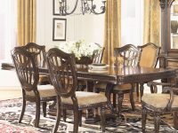 Grand Estates Double Pedestal Rectangular Dining Tablefairmont Designs At Royal Furniture with regard to Living Room Furniture Tables