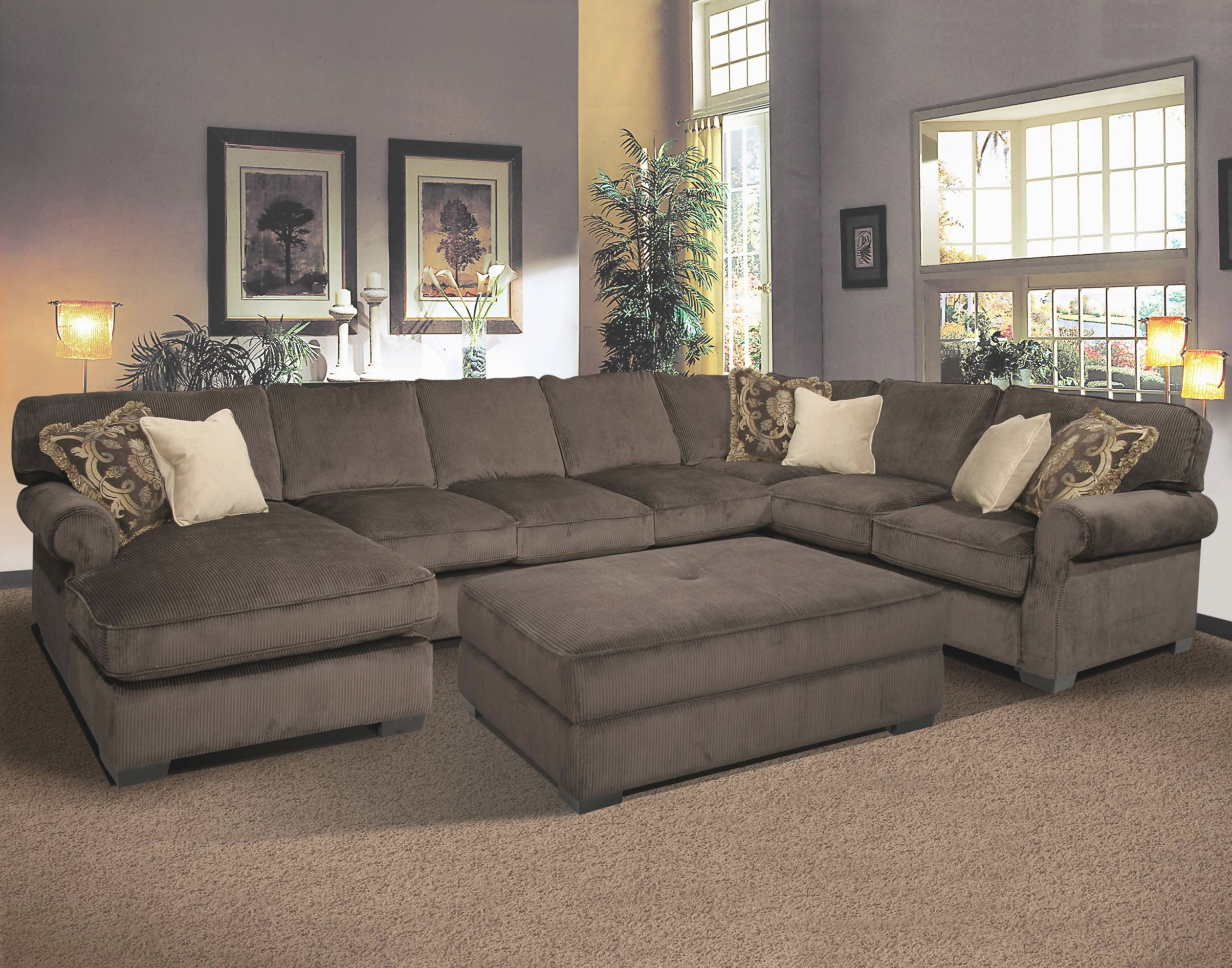 Grand Island Oversized Cocktail Ottoman For Sectional Sofa throughout Elegant Oversized Living Room Furniture