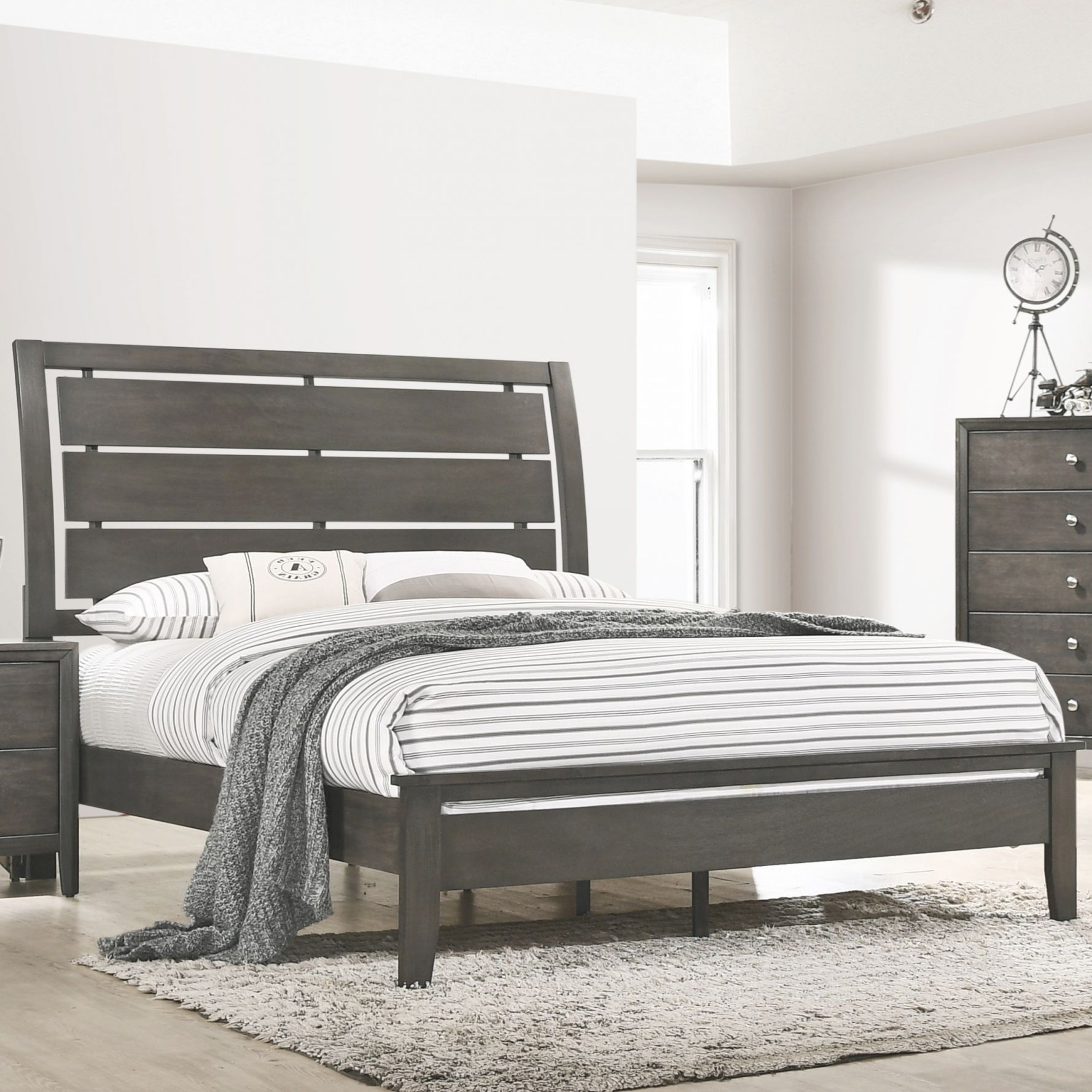 Grant Transitional King Bed With Panel Headboardunited Furniture Industries At Household Furniture with Best of King Bed Frame With Headboard