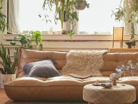 Greta Recycled Leather Xl Sleeper Sofa within Overstuffed Living Room Furniture