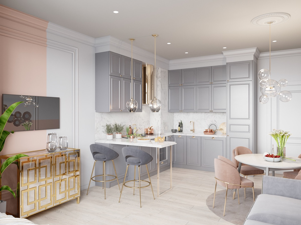 grey-and-gold-kitchen