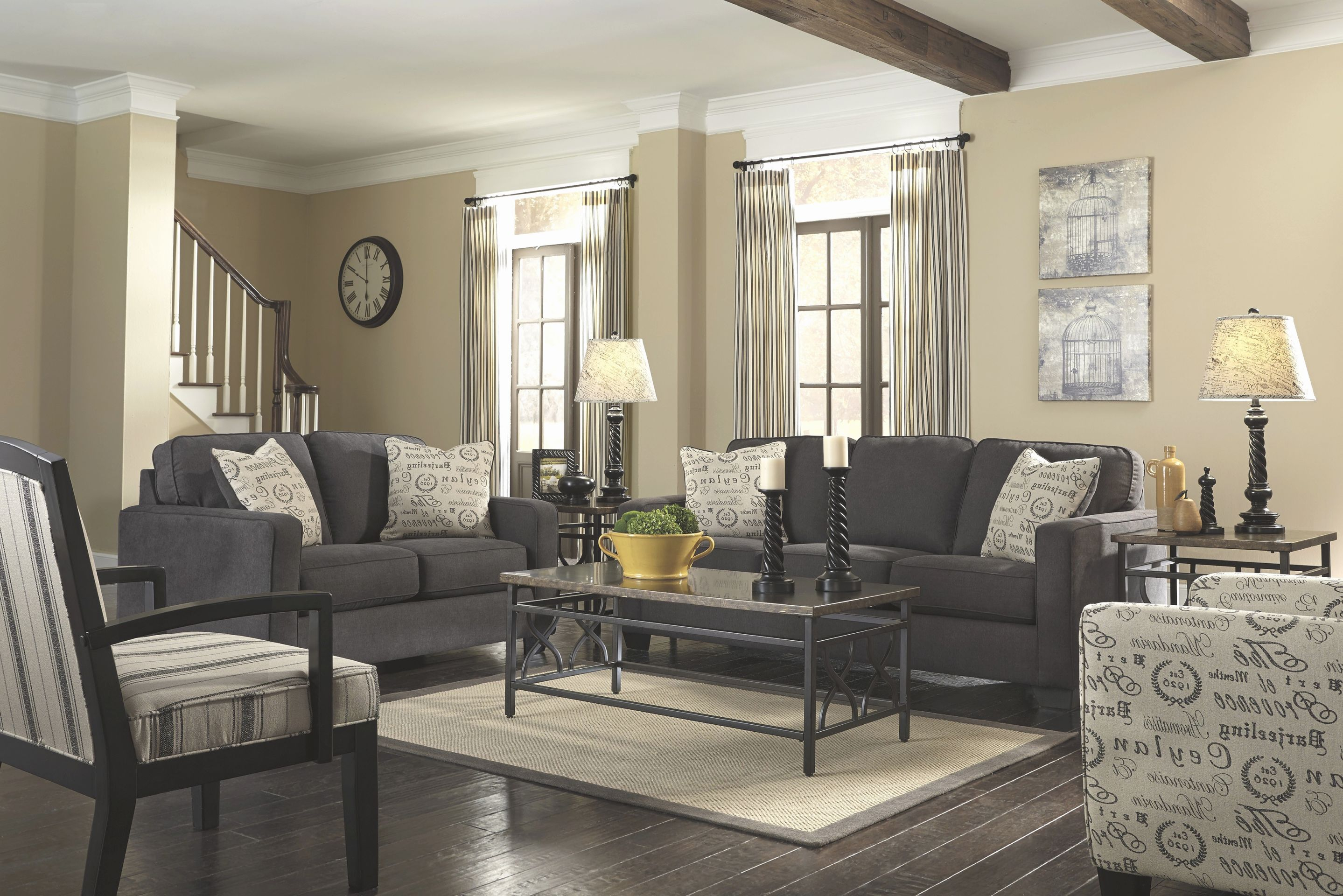 Grey Sofa White Piping Gorgeous Dark Gray Couch Living Room
