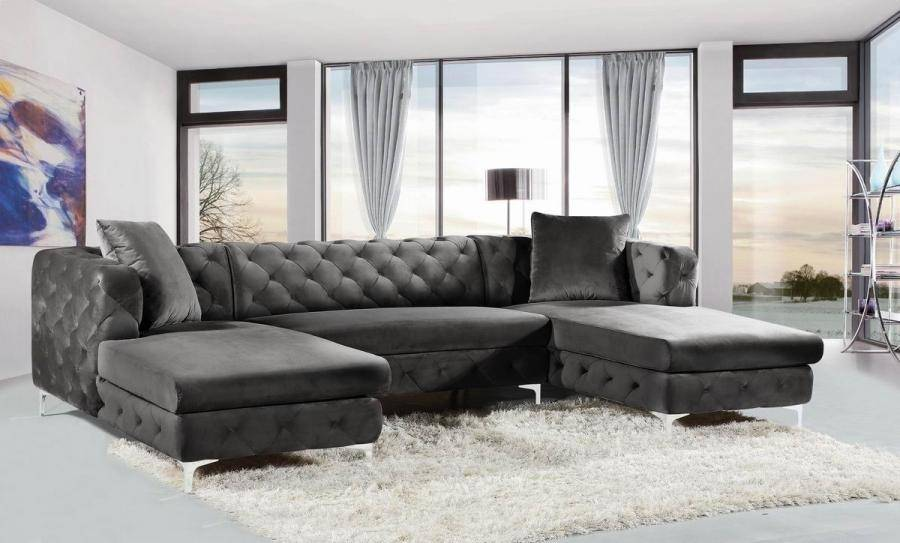 grey-tufted-sectional-sofa-with-two-chaises-and-all-over-diamond-tufting