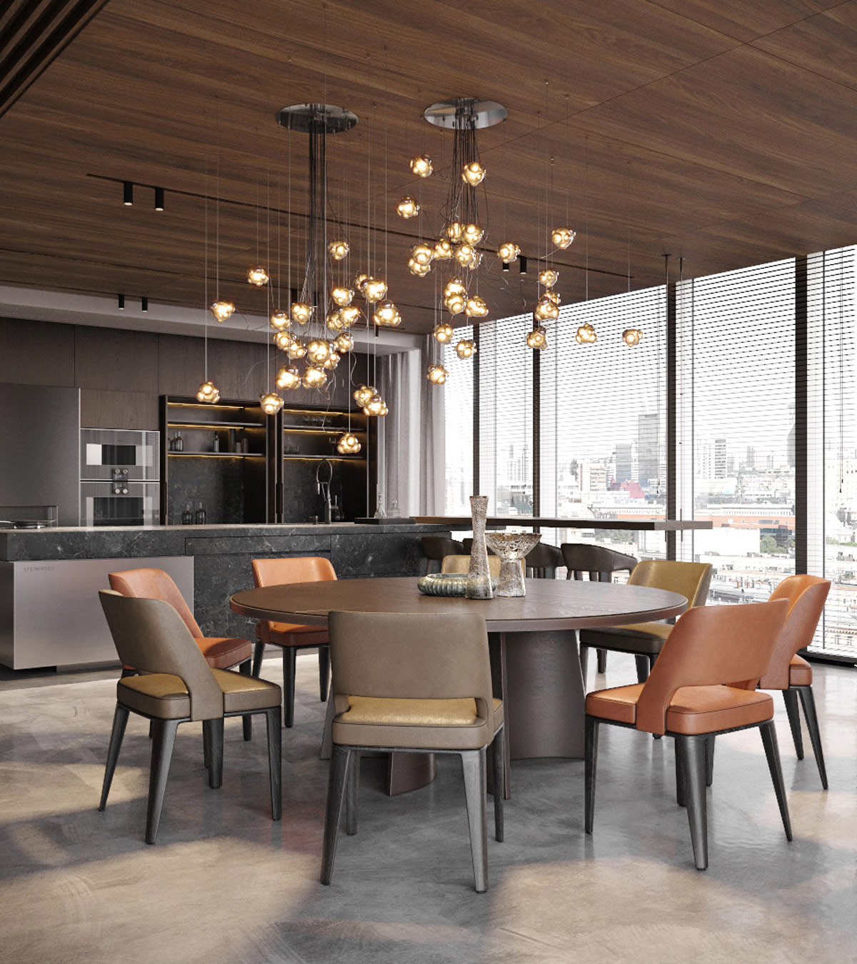 grey-wood-round-dining-table