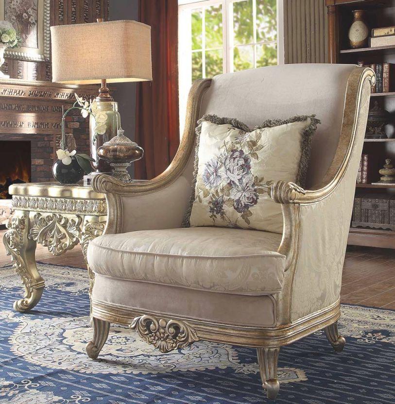 Hd 04 Homey Design Upholstery Accent Chair Set Victorian, European & Classic Design regarding Unique Victorian Living Room Furniture