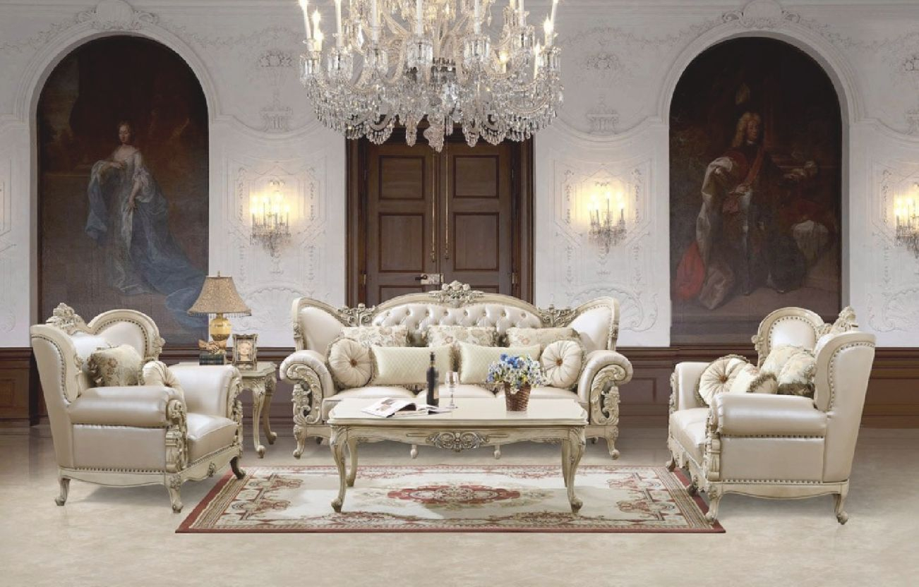 Hd 32 Homey Design Upholstery Living Room Set Victorian, European & Classic Design Sofa Set within Victorian Living Room Furniture