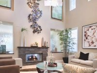 High Ceiling Rooms And Decorating Ideas For Them pertaining to Awesome Wall Decor Ideas For Living Room