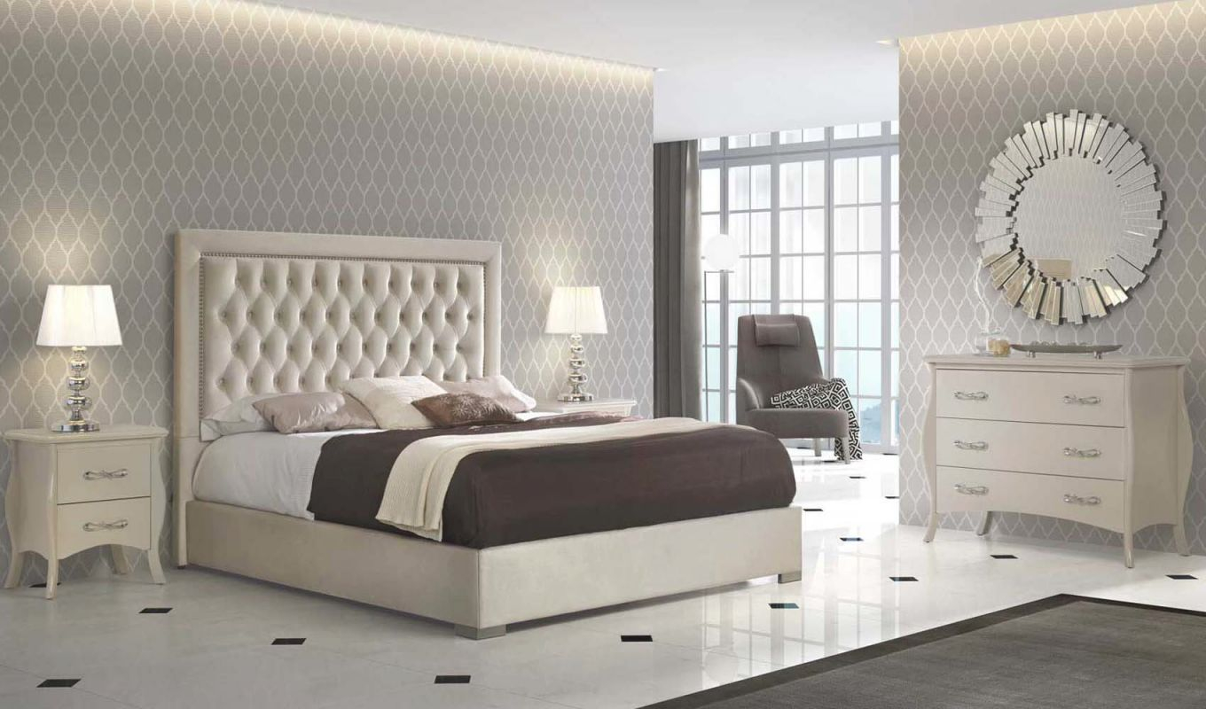 High End Modern Design Cream Bedroom Set in Luxury Bedroom Set Modern