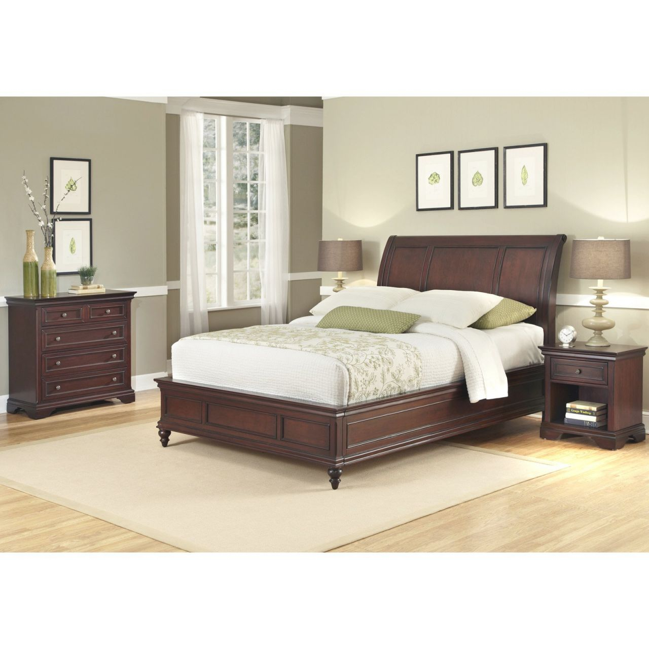 Home Styles Lafayette King/california King Sleigh Headboard, Rich Cherry for Best of King Bed Frame With Headboard
