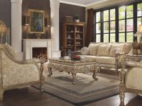 Homey Design Hd-205 Antique Gold Finish Victorian Living regarding Victorian Living Room Furniture