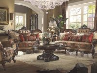 Homey Design Hd-39 Victorian Mufti Floral Print Sofa inside Floral Living Room Furniture