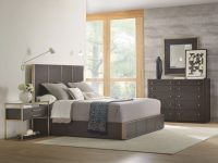 Hooker Furniture 4-Piece Curata Low Panel Bedroom Set In Dark Wood with Bedroom Set Dark Wood