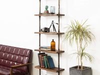 industrial-ladder-shelf-steampunk-pipe-frame-with-thick-wood-shelves