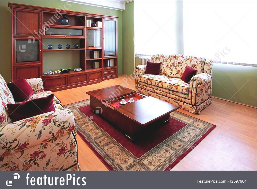 Interior Architecture: Interior Of Living Room With Floral Furniture within Floral Living Room Furniture