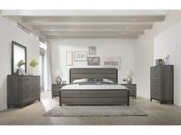 Ioana 187 Antique Grey Finish Wood Bed Room Set, Queen Size Bed, Dresser, Mirror, 2 Night Stands, Chest in Luxury Bedroom Set Queen Size