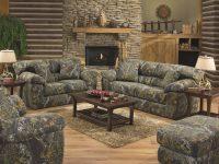 Jackson Furniture Big Game Mossy Oak Camo Sofa And Loveseat in Camo Living Room Furniture