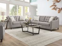Jensen Grey Tufted Sofa pertaining to Unique Tufted Living Room Furniture