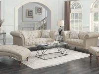 Josephine 2-Piece Tufted Living Room Set Beige – Coaster for Tufted Living Room Furniture