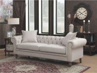 Juliet Contemporary Grey Upholstered Tufted Living Room Chesterfield Sofa within Tufted Living Room Furniture