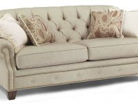 Kathleen Sofa With Button-Tufted Back And Nailhead Trimflexsteel At Crowley Furniture & Mattress regarding Unique Tufted Living Room Furniture