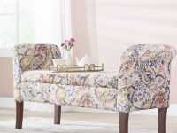 Keziah Floral Upholstered Storage Bench in New Floral Living Room Furniture