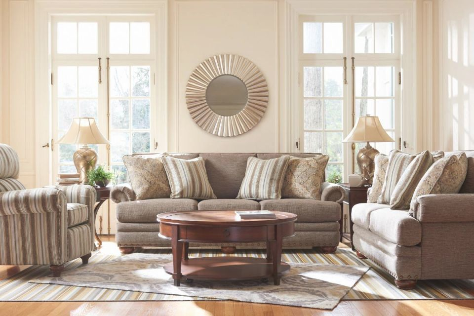 La-Z-Boy Brennan Stationary Living Room Group   Super regarding New Lazy Boy Living Room Furniture