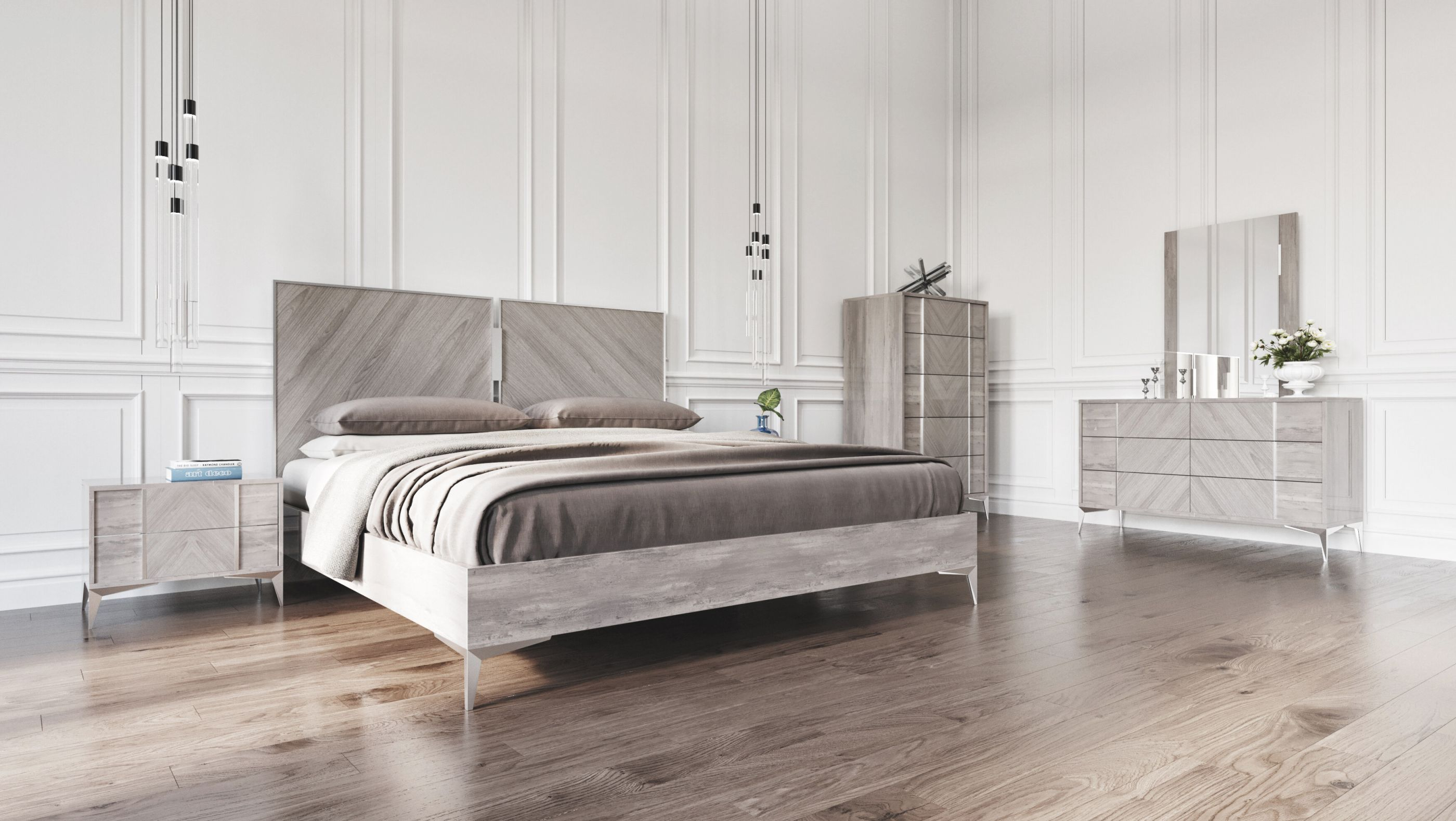 Labombard Modern 5 Piece Platform Bedroom Set pertaining to Luxury Bedroom Set Modern