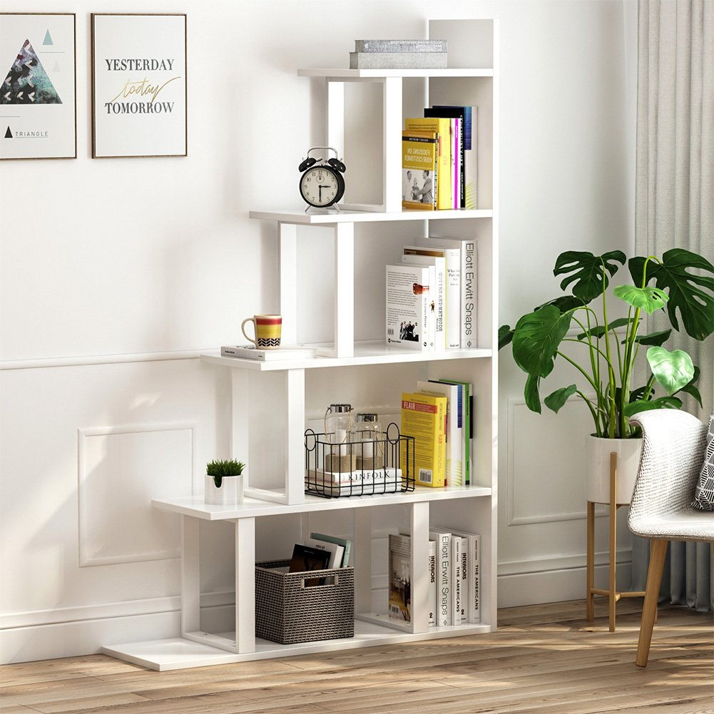 ladder-shelf-bookcase-wide-stair-design