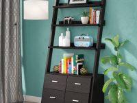ladder-shelf-with-drawers-dark-finish-for-modern-interiors