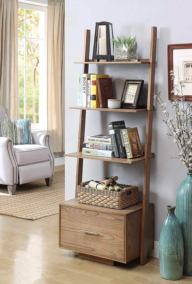 ladder-shelf-with-large-bottom-filing-cabinet-for-living-room-or-home-office-storage