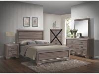 Large Scale Rustic Wooden Grey Queen Bedroom Set throughout Beautiful Bedroom Set Queen