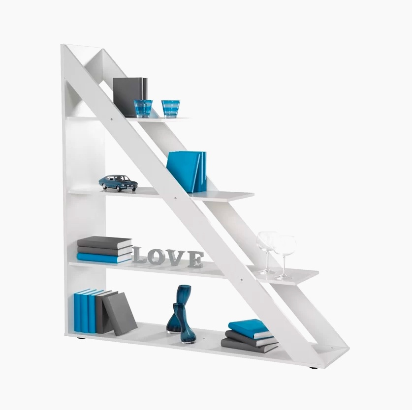 large-triangle-ladder-bookshelf-wide-shelf-design
