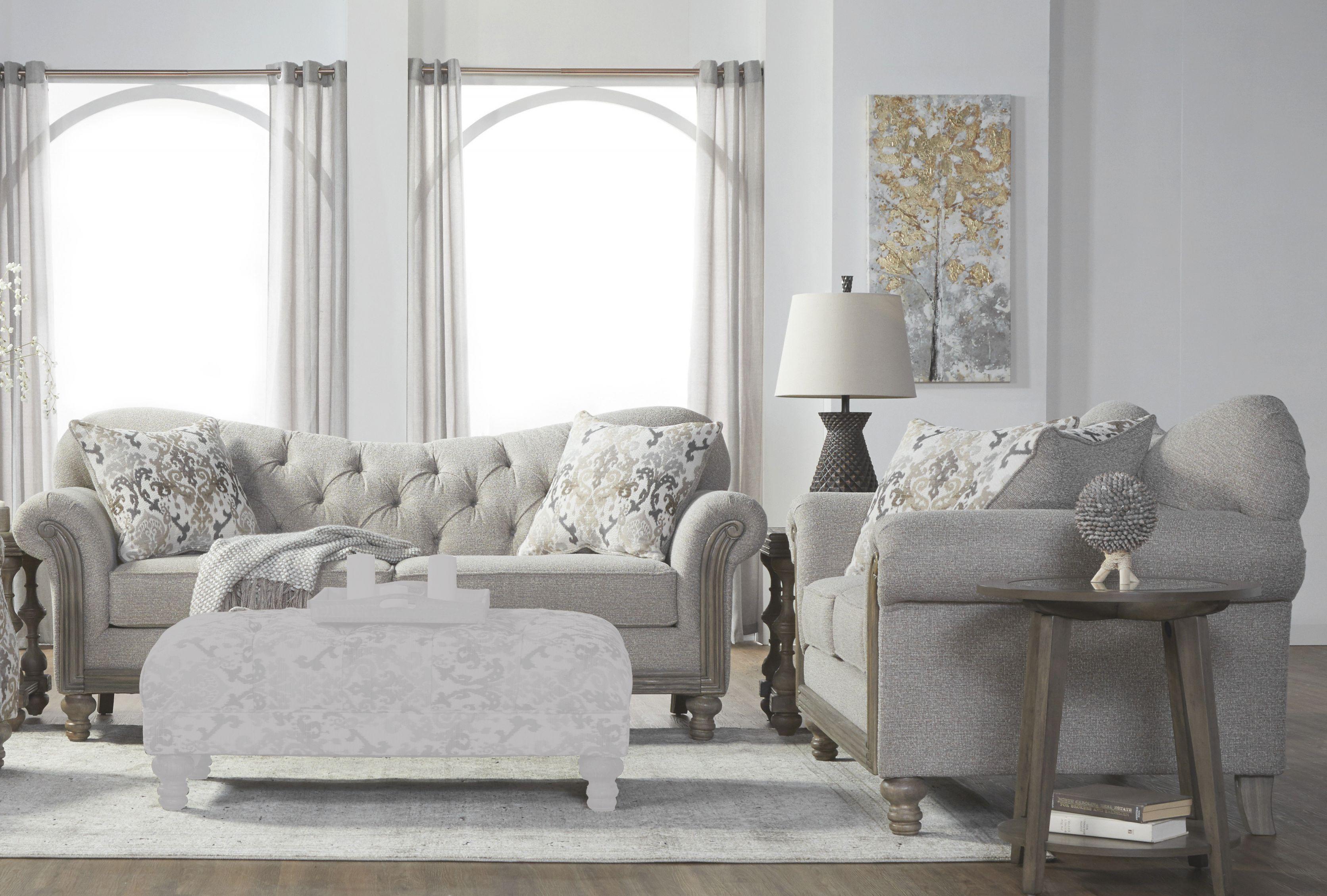 Larrick Tufted Fabric Living Room Set pertaining to Unique Tufted Living Room Furniture