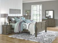 Lewiston Grey 5 Piece Full Bedroom Set for Bedroom Set Grey