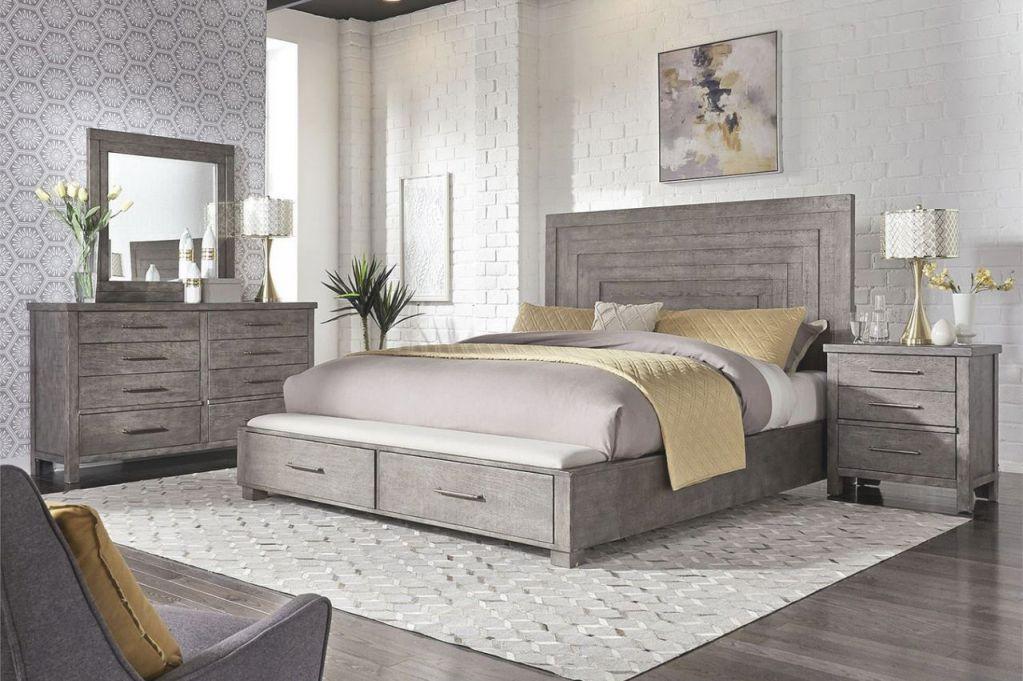Liberty Furniture Modern Farmhouse Storage Bedroom Set In Dusty Charcoal Est Ship Time Is 4 Weeks inside Luxury Bedroom Set Modern