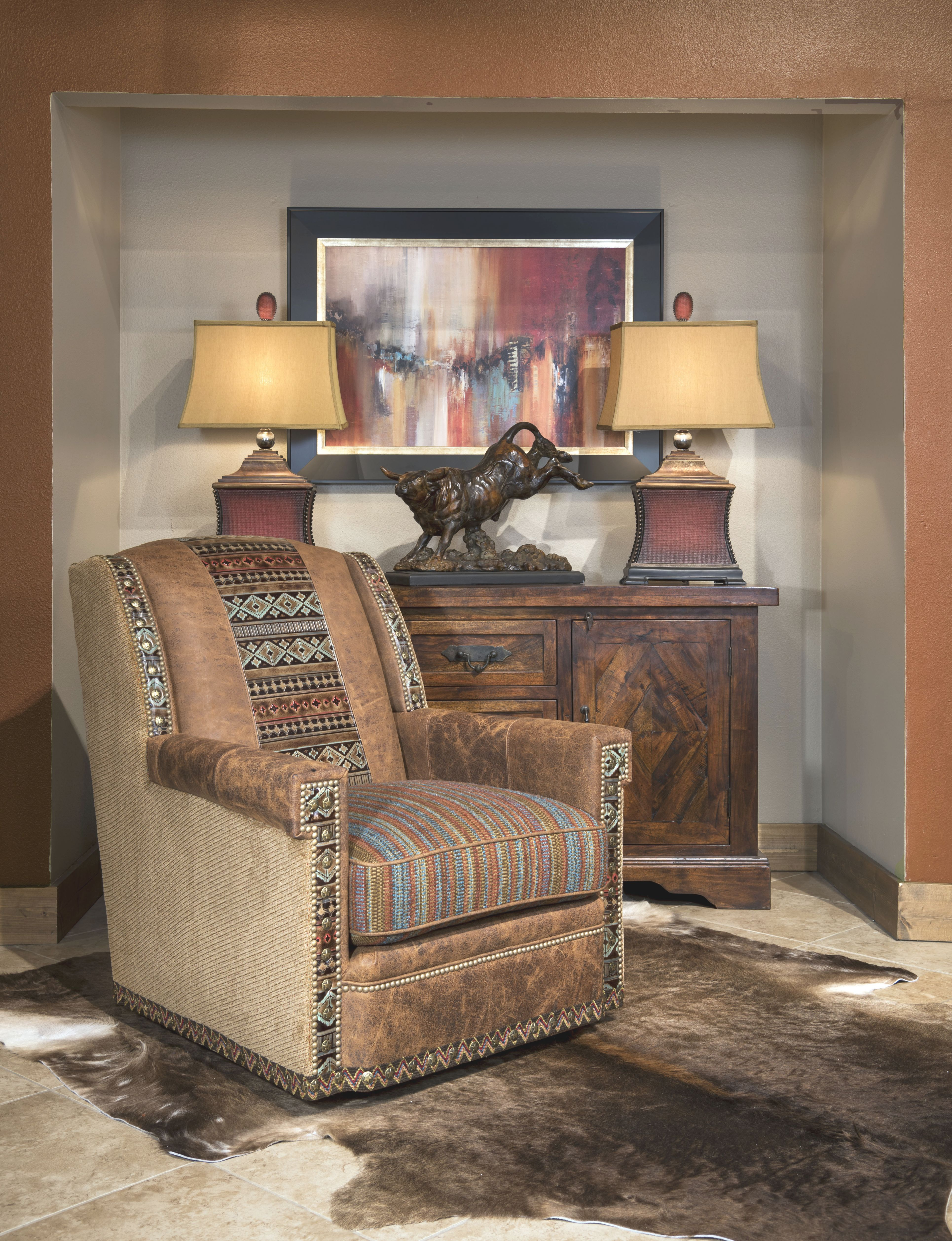 Living Room | Western Furniture Company | Adobeinteriors with Rustic Living Room Furniture