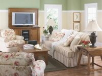 Living Room : Whit Red Rosrs Floral Pattern Small Living inside Floral Living Room Furniture