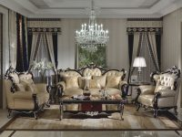Ma Xiaoying Leather Sofas, Solid Wood Frame Carvedhands with New Traditional Living Room Furniture
