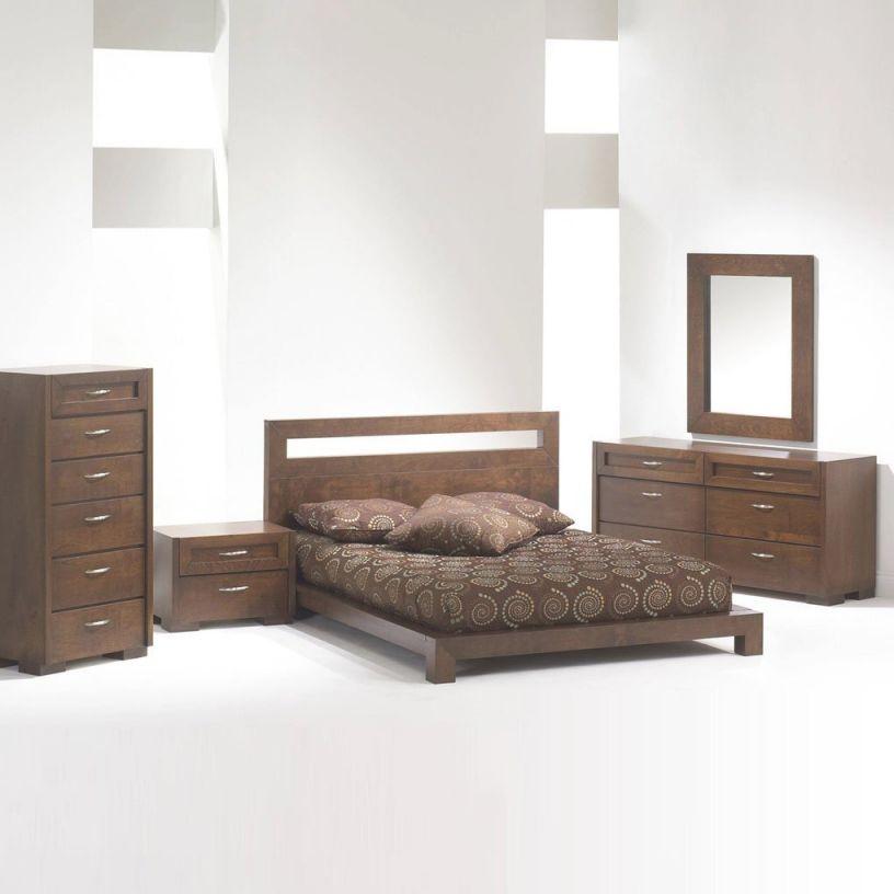 Madrid Platform Bed Bedroom Set Brown King Bedroom Set within Bedroom Set Ideas