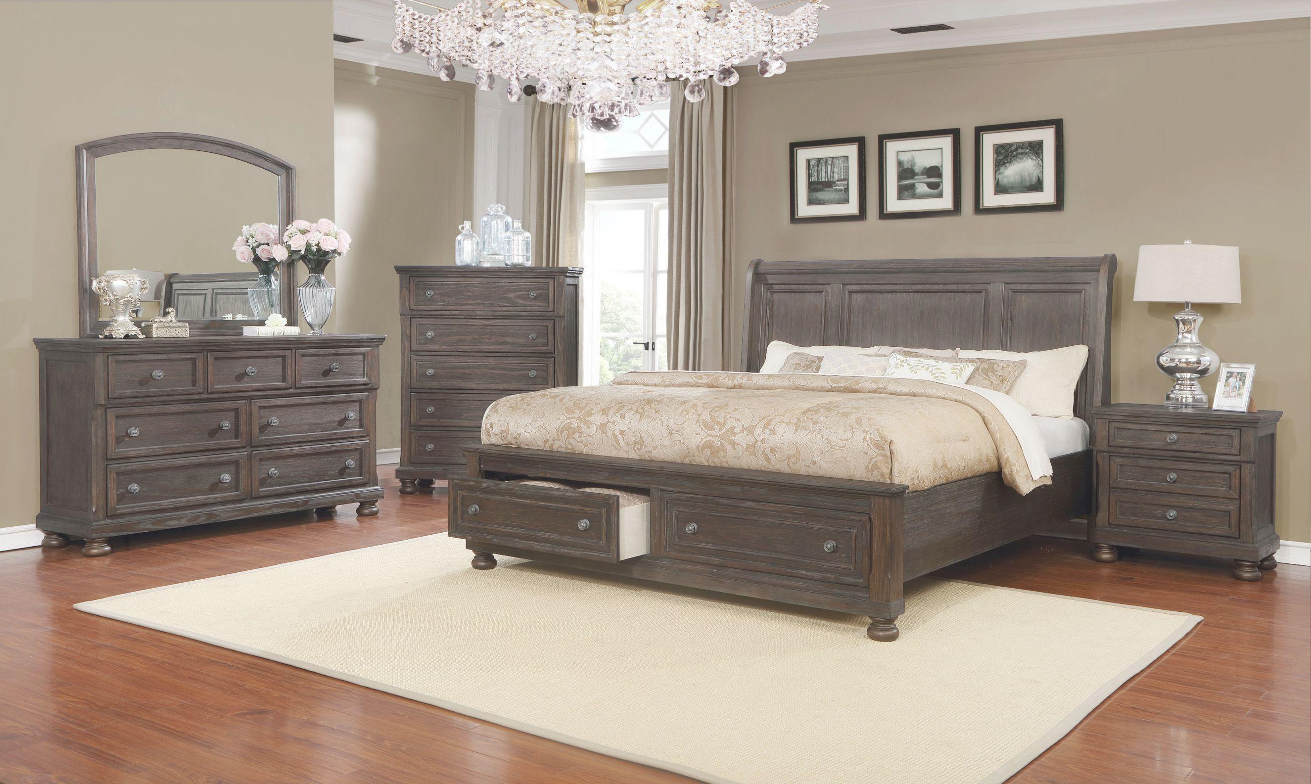 Mapes Queen Sleigh 4 Piece Bedroom Set with regard to Bedroom Set Queen