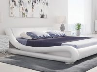 Marlo Leather Bed – White for Bedroom Set Modern