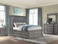 Marseille Storage Bedroom Set (Grey) with Bedroom Set Grey