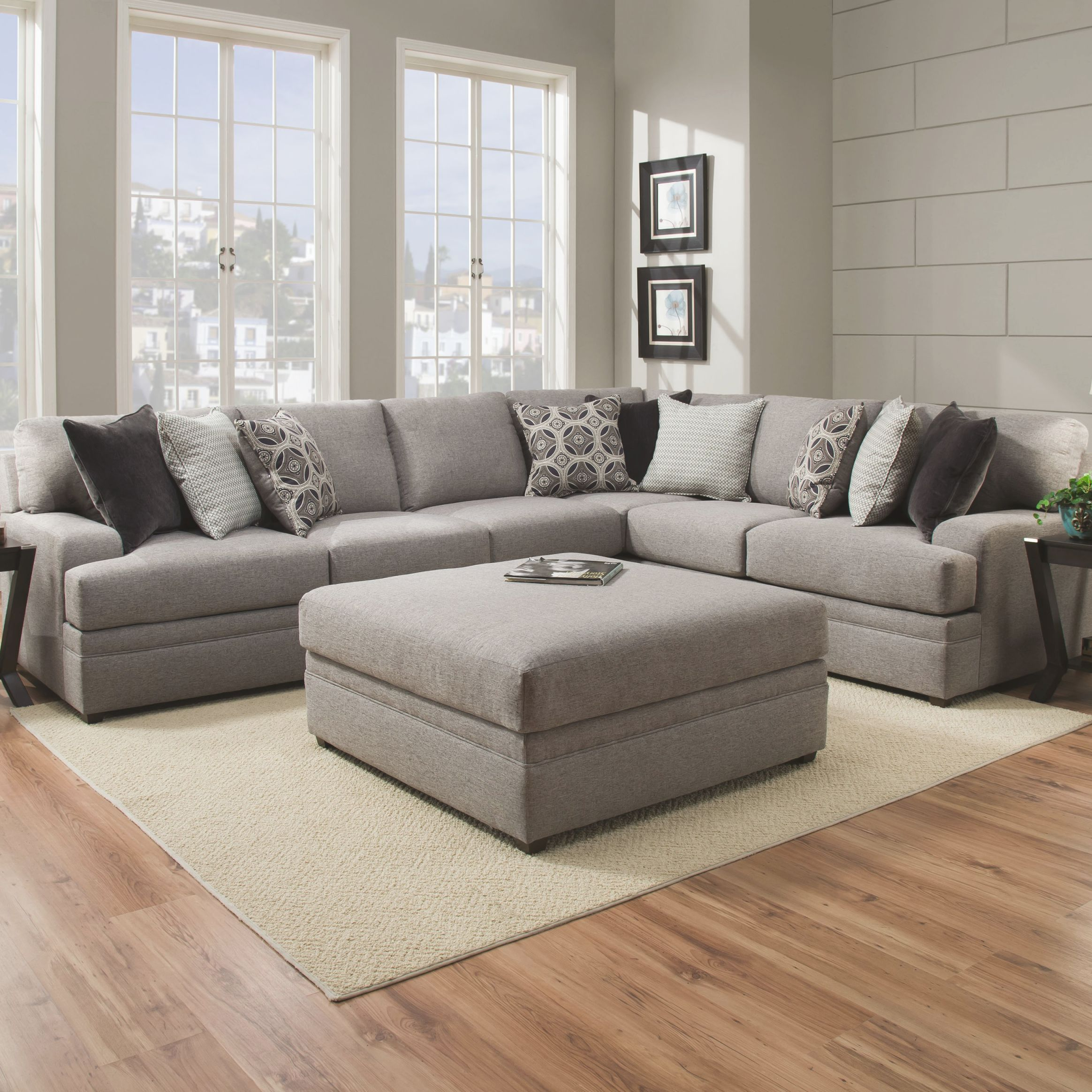 Mervin Briar Simmons Right Hand Facing Sectional regarding New Simmons Living Room Furniture