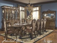 Michael Amini The Sovereign Traditional Rectangular Dining within Aico Living Room Furniture