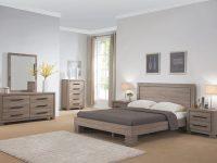Modern Design 4Pc Set Queen Size Platform Bed Dresser, Mirror & Nightstand Dark Taupe Finish Bedroom Furniture regarding Luxury Bedroom Set Queen Size