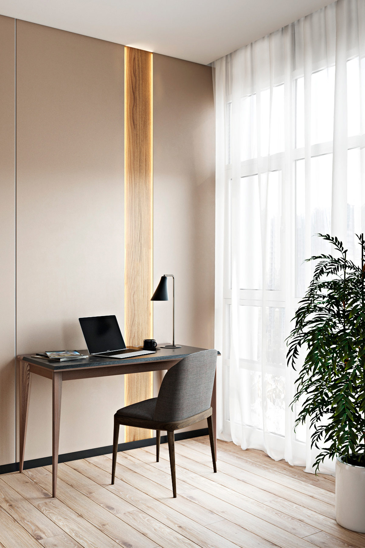 modern-home-office-desk-with-simple-table-lamp-in-modern-master-bedroom-workspace-combination
