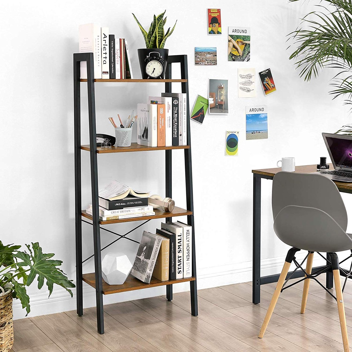 modern-industrial-ladder-shelf-with-four-legs-and-four-tier-storage