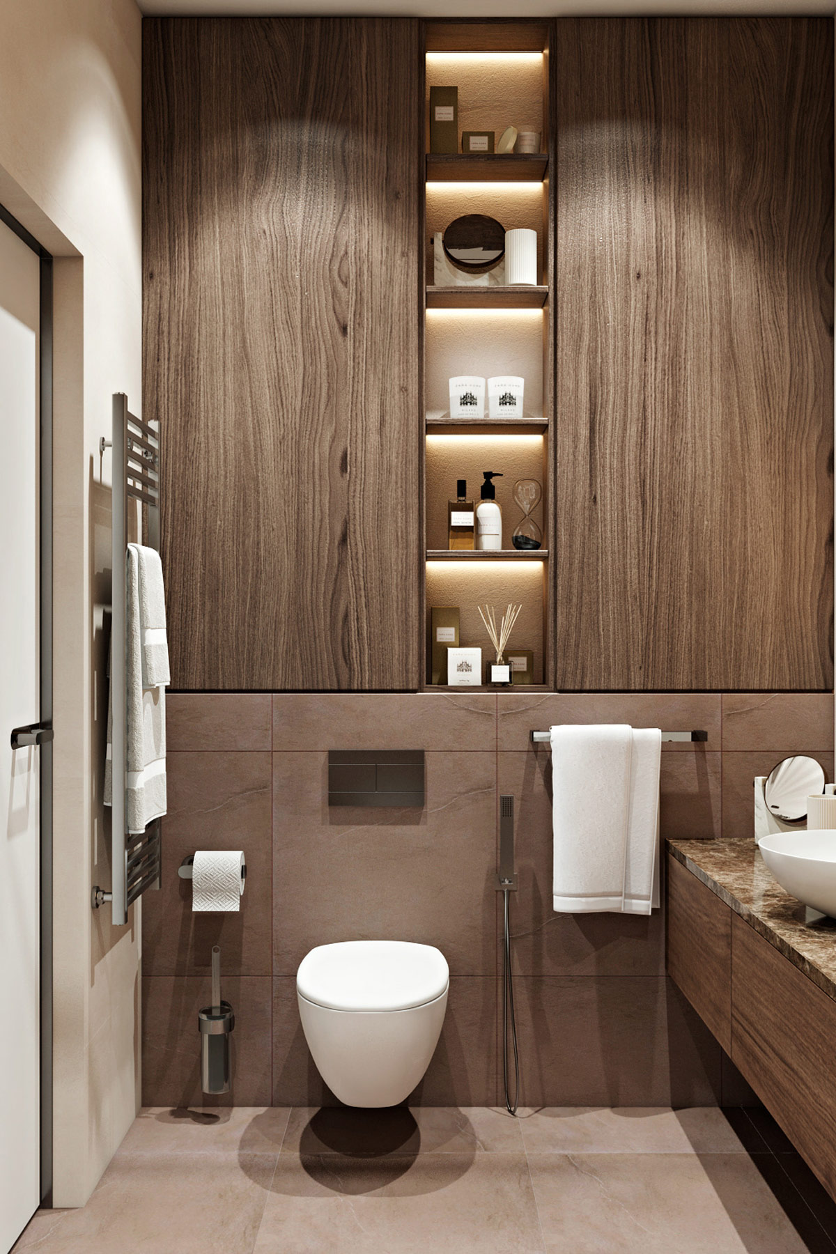 modern-master-bathroom-with-dark-earth-tone-palette-with-wood-and-stone