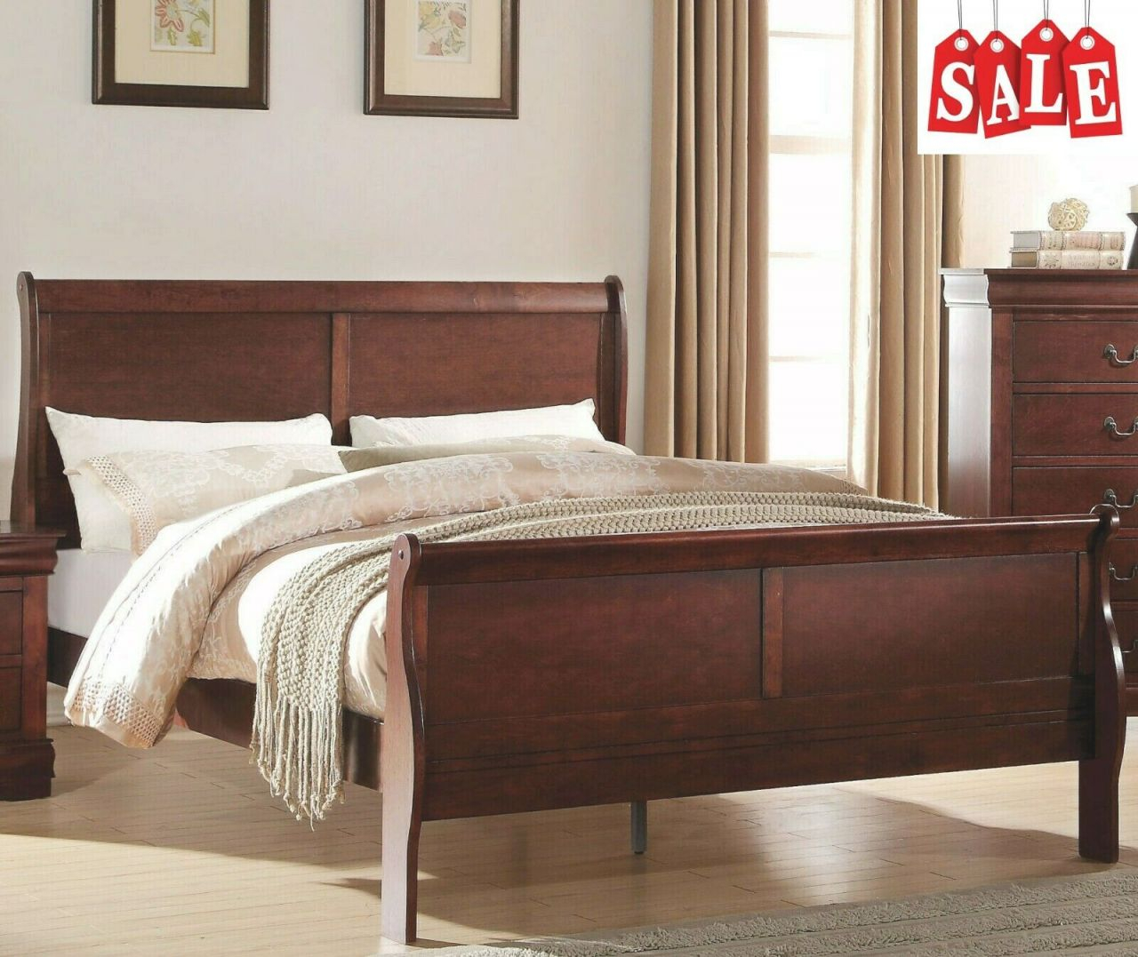Modern Wooden King Size Bed Frame With Headboard & Footboard Bedroom  Furniture with King Bed Frame With Headboard